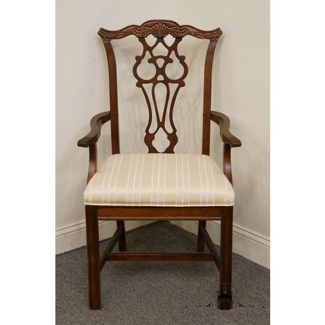 Bernhardt Furniture Chippendale Style Dining Arm Chair