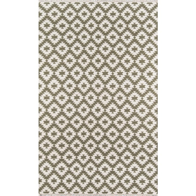 "Erin Gates Thompson Newbury Grey Hand Woven Wool Area Rug 7'6"" X 9'6"" For Sale"