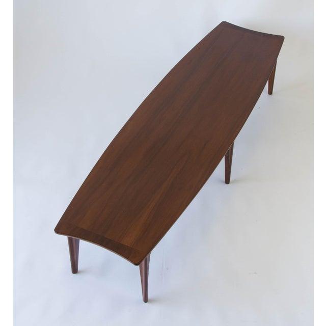 American Walnut & Rosewood Surfboard Coffee Table - Image 5 of 7