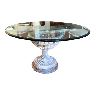 Fine Italian Designer Venetian Cornucopia Base Pedestal Table For Sale