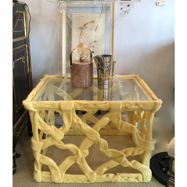 Mid-Century Acrylic Ribbon End Tables, A-Pair For Sale - Image 11 of 13