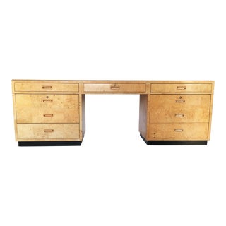 Exceptional Burled Desk by Henredon For Sale