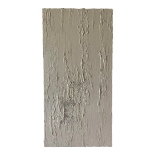 Vintage Textured Ivory Abstract Art For Sale