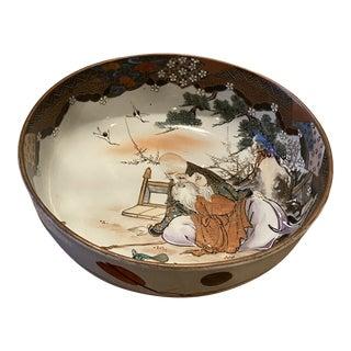 19th Century Antique Japanese Meiji Period Imari Porcelain Centerpiece Bowl For Sale