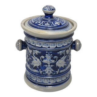 Late 19th C. Antique German Salt Glaze Stoneware - Wine Bucket For Sale