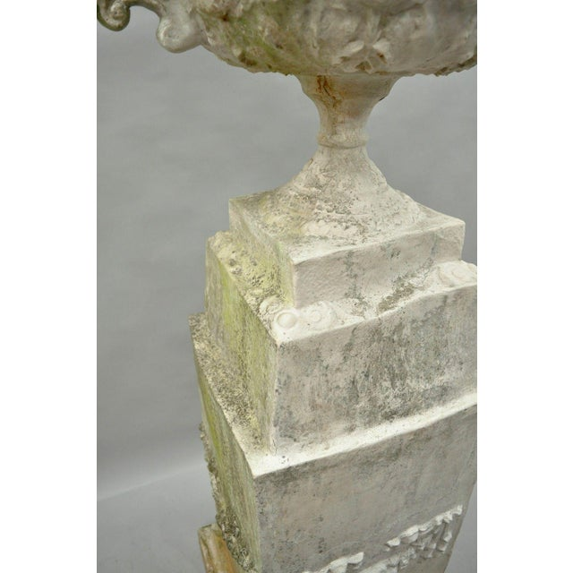 Garden Pedestal Water Fountain For Sale - Image 10 of 13