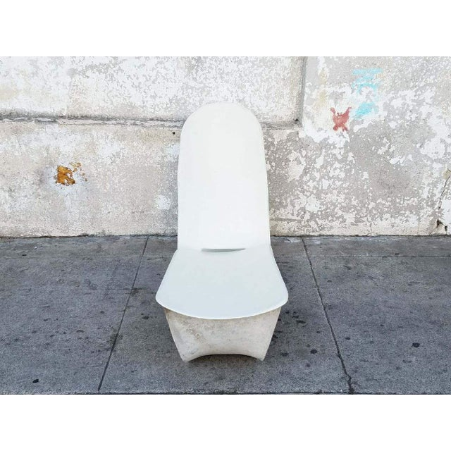 1970s 1971 Fiberglass Lounge Chair by Po Shun Leong Shown at Lacma For Sale - Image 5 of 6