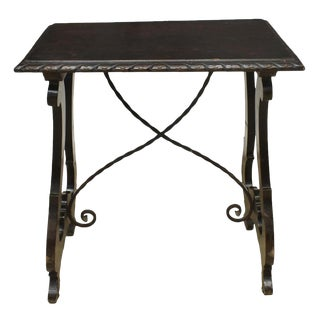 1920s Spanish Baroque Side Table For Sale
