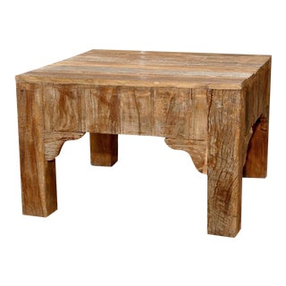 Reclaimed Square Coffee Table For Sale