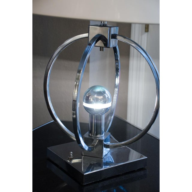 Unusual Spherical Chrome Desk Lamp For Sale - Image 4 of 5