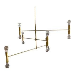 """Lambert & Fils """"Atomium"""" Twelve Bulb Chandelier For Sale"""