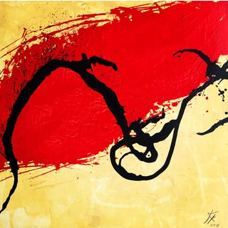 """""""Zest"""" Contemporary Abstract Expressionist Acrylic Painting by Kyle M. Evans For Sale"""