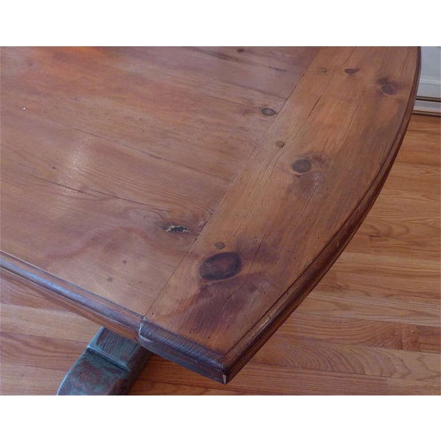 Wood 19th Century Scandinavian Trestle Table For Sale - Image 7 of 8