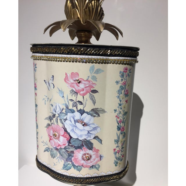 Recycled Floral Butterfly Tea Tin Sculpture - Image 5 of 5