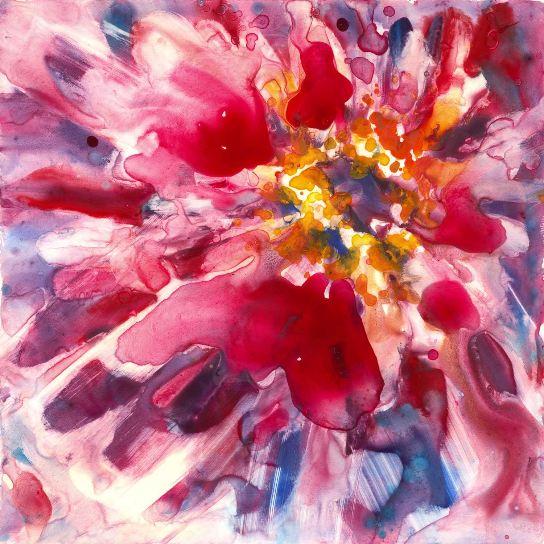 Magenta Zinnia Watercolor Painting Chairish