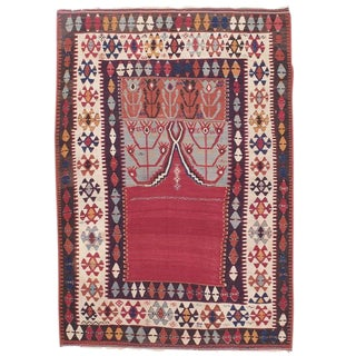 "Antique Central Anatolian Kilim with ""Tulips"" For Sale"