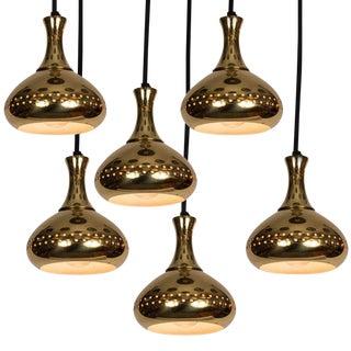 1950s Hans-Agne Jakobsson Perforated Brass Pendants for Markaryd