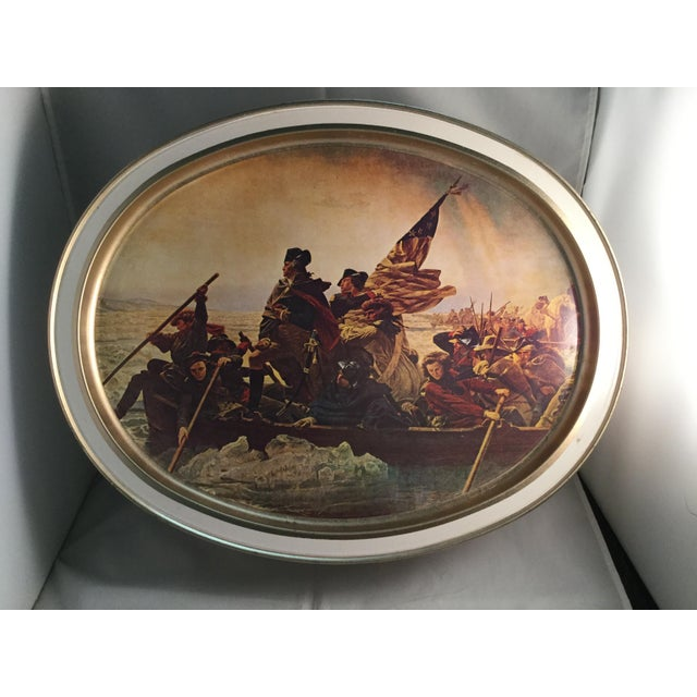 Washington Crossing the Delaware Decorative Biscuit Container For Sale - Image 9 of 11
