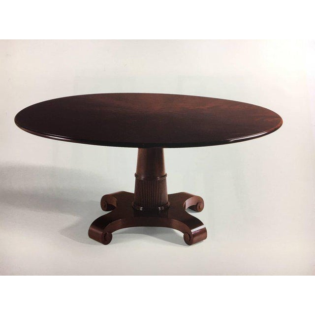 sophisticated baker furniture thomas pheasant round pedestal dining