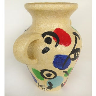 Peter Keil Hand-Painted Faces Urn Handled Vase Preview