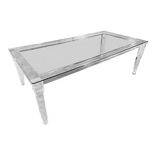 Acrylic Lucite Dining Table For Sale