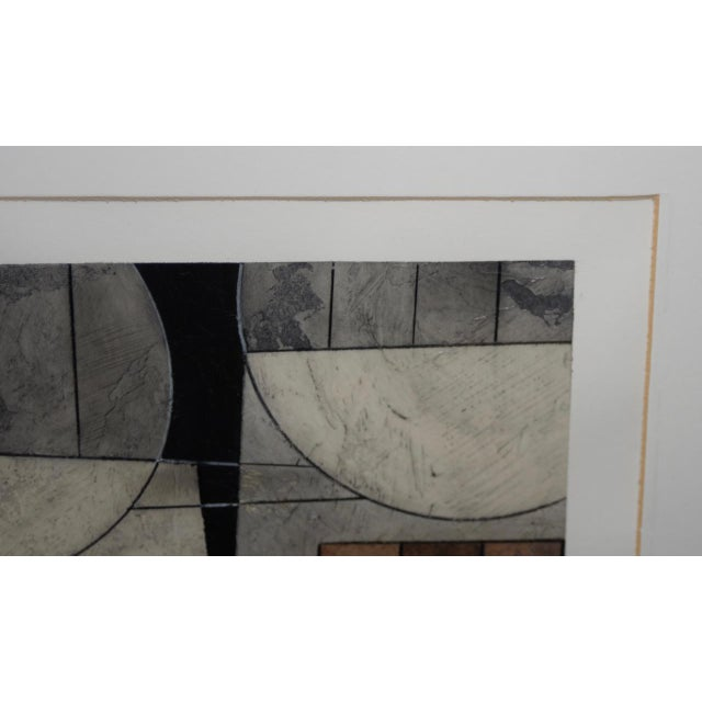 Late 20th Century Modernist Abstract Oil Painting on Paper For Sale - Image 5 of 8