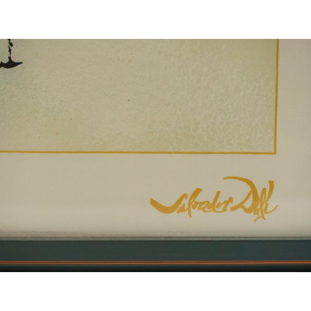 The Emerald of the Tablet Salvador Dali Silk Serigraphy 1989 - Edition of 2000 For Sale - Image 10 of 11