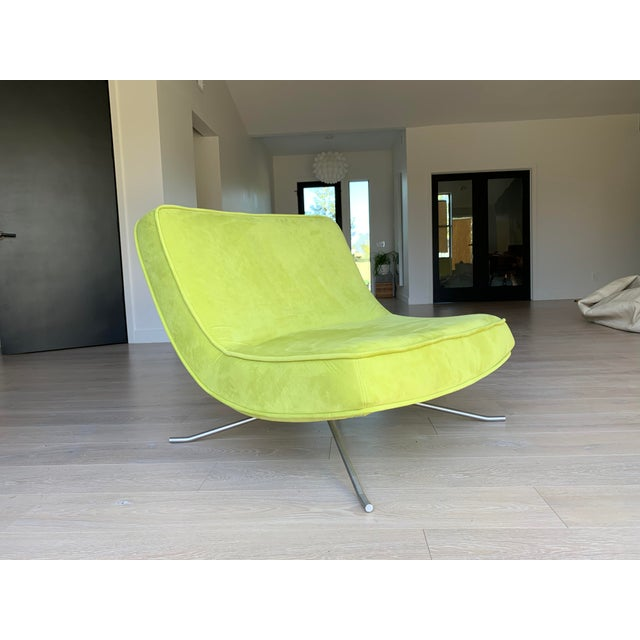 Glass Ligne Roset Pop Chair and Ottoman by Christian Werner For Sale - Image 7 of 9