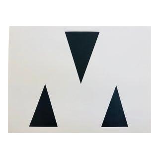 "Original Acrylic Painting ""Black Triangles"""