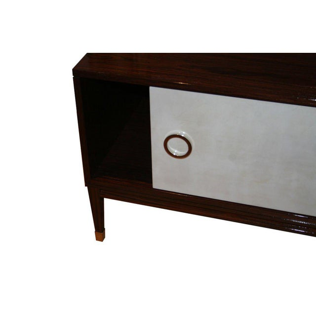 Ryan Parchment Door Rosewood Console For Sale - Image 4 of 10