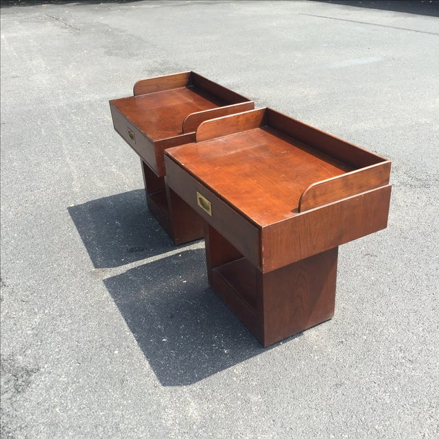 Directional Mid-Century Nightstands - A Pair - Image 3 of 11