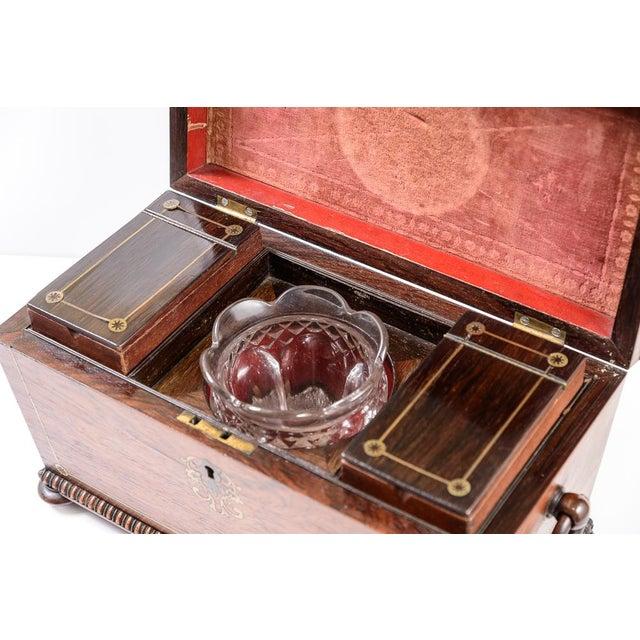 Brass Regency tea caddy For Sale - Image 7 of 11