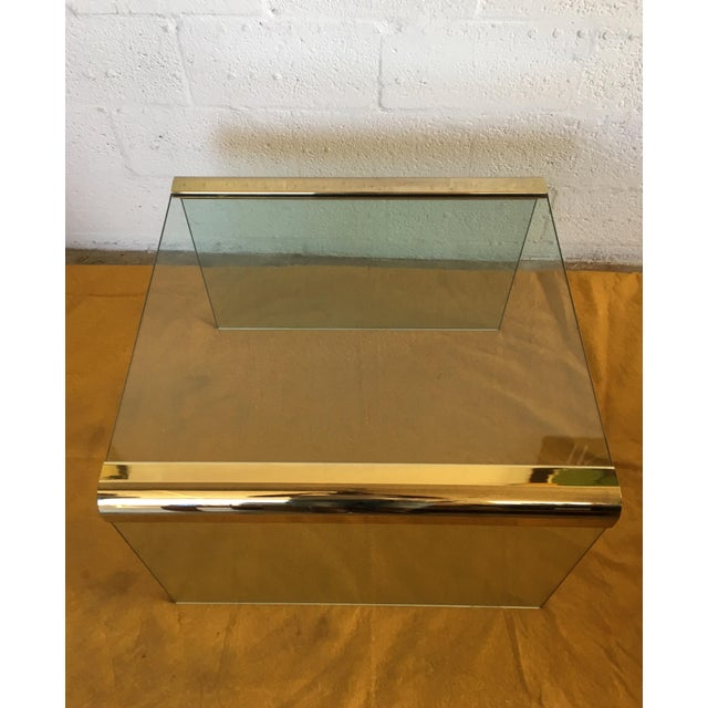 Vintage Leon Rosen Glass and Brass End Table for Pace Collection - Image 8 of 10