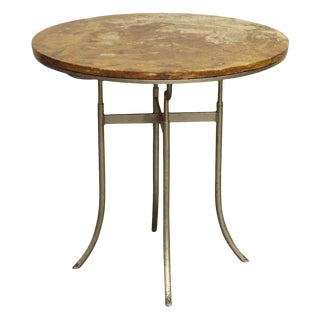 Round Wood Top Bistro Table