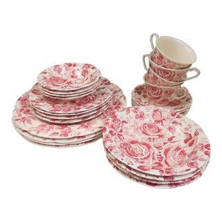 Vintage Maruta Chintz Dinnerware - 24 Piece Set