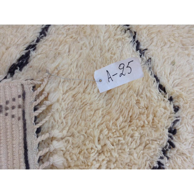 Textile 1980s Beni Ourain Rug- 6′1″ × 11′5″ For Sale - Image 7 of 8