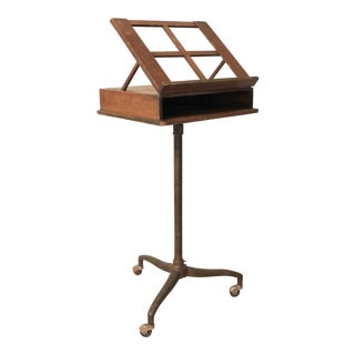 1930's Antique Adjustable Music or Book Stand For Sale