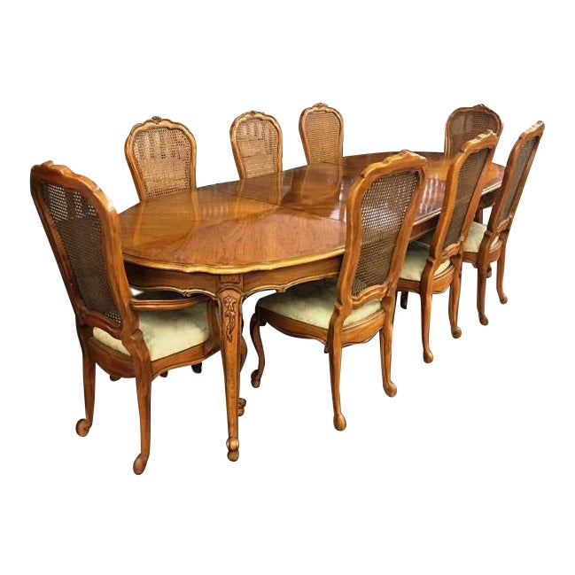 Thomasville Dining Room Sets: Vintage Thomasville French Court Dining Table & Chairs
