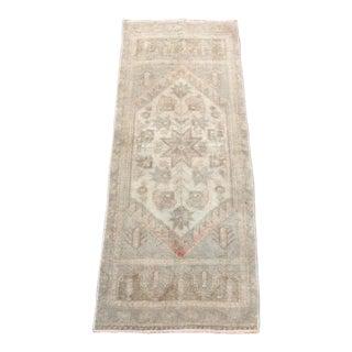 "Fantastic Muted Tone Vintage Turkish Carpet - 44"" x 17"""