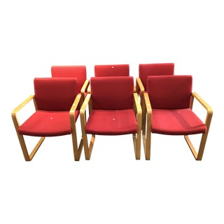 J. G. Furniture Red Laminate Dining Chairs -Set of 6 For Sale