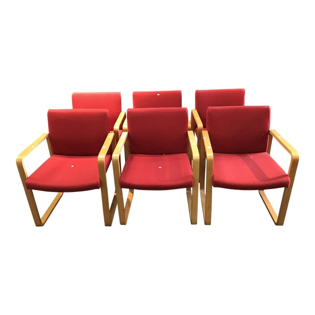 J.G. Furniture Red Laminate Chairs -Set of 6 - Image 1 of 11
