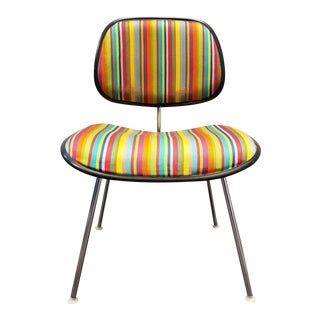 Eames Ec127 Padded Dcm Chair With Alexander Girard Fabric For Sale