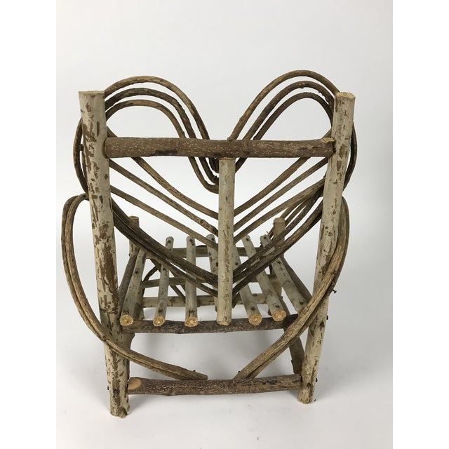 Boho Chic Bent Twigs Heart Chair Plant Stand For Sale - Image 3 of 10