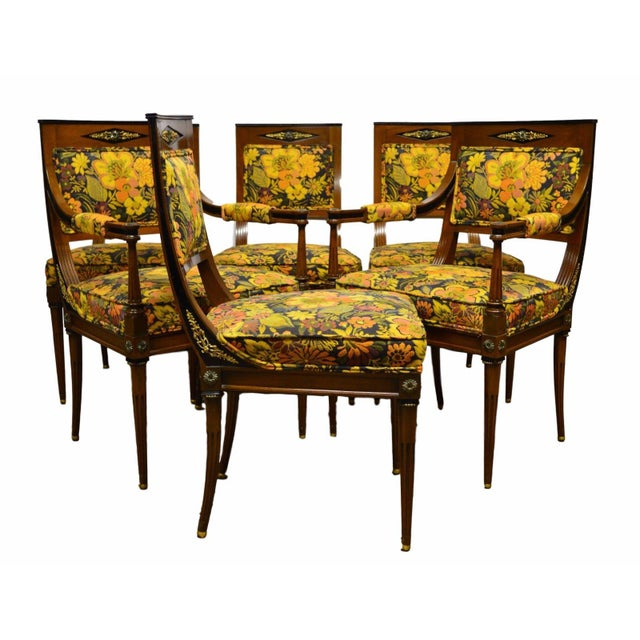 French Regency Rosewood Dining Chairs - Set of 6 For Sale In Philadelphia - Image 6 of 6