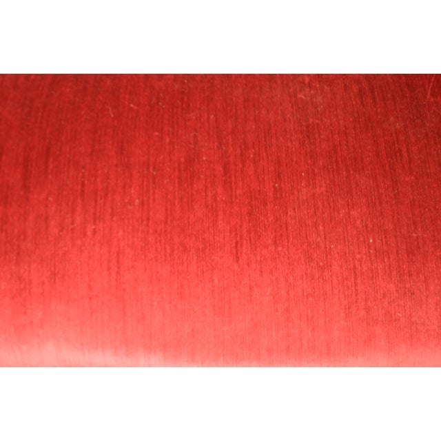 Victorian Walnut Antique Red Tufted Sofa For Sale - Image 12 of 13