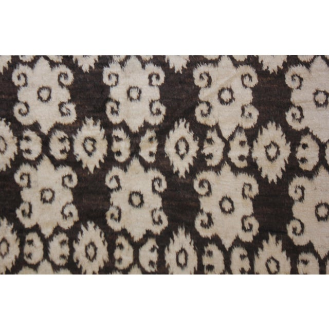 "Modern Aara Rugs Inc. Hand Knotted Ikat Rug - 9'8"" X 7'4"" For Sale - Image 3 of 4"