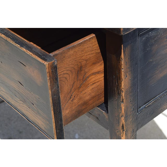 1990s Designer Piece- by Alden Parkes - Reclaimed Wood Sofa/Console Table For Sale - Image 5 of 10
