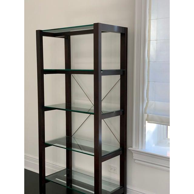 Williams-Sonoma Williams Sonoma Home Glass Bookcase For Sale - Image 4 of 10