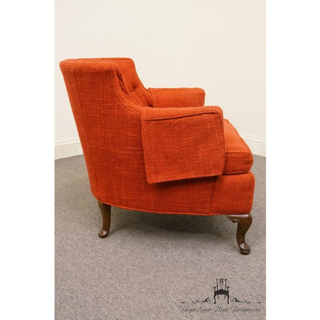Fabric Henredon Mid-Century Upholstered Accent Arm Chair For Sale - Image 7 of 9