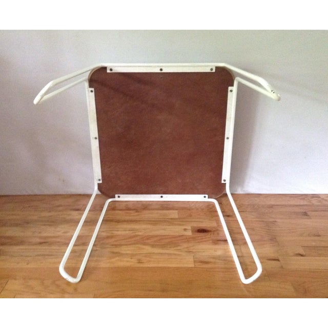 Vintage Mid-Century Card Dinette Table Powder-Coat Hairpin Legs Off White Formica Top For Sale - Image 6 of 11